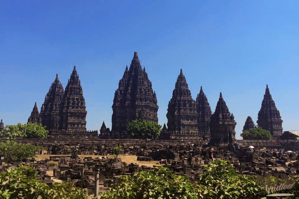 Prambanan in the South of Yogyakarta - not an insider tip for Yogyakarta