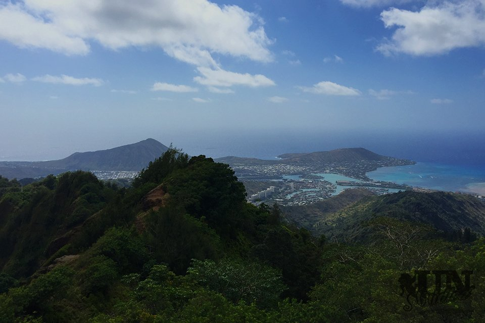 The Hawai'i Kai and the Koko Head pictured from above on the Kuliouou Summit