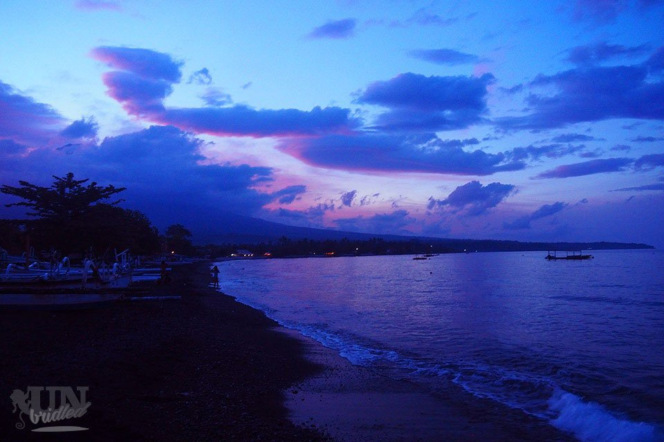 One of the activities in Amed is swimming all day long as it has the beach always close. Sunset is a great time in Amed for the view on the Mount Agung