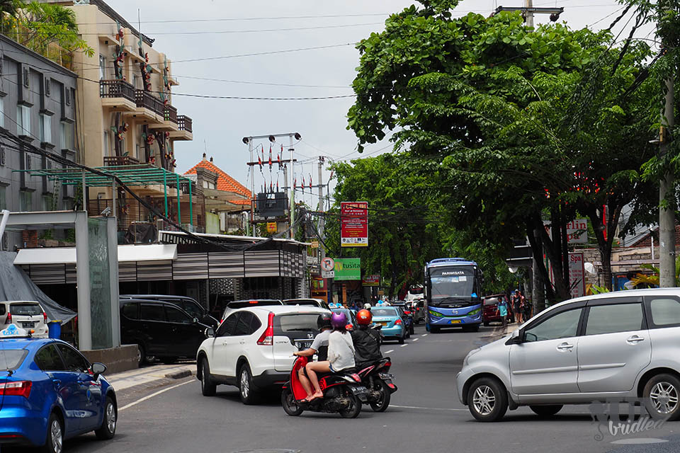 Traffic in Bali can be one concern with moped rentals as it can get chaotic
