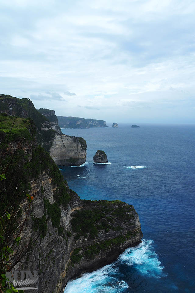 The limestone coast of Nusa Penida amazes with its height