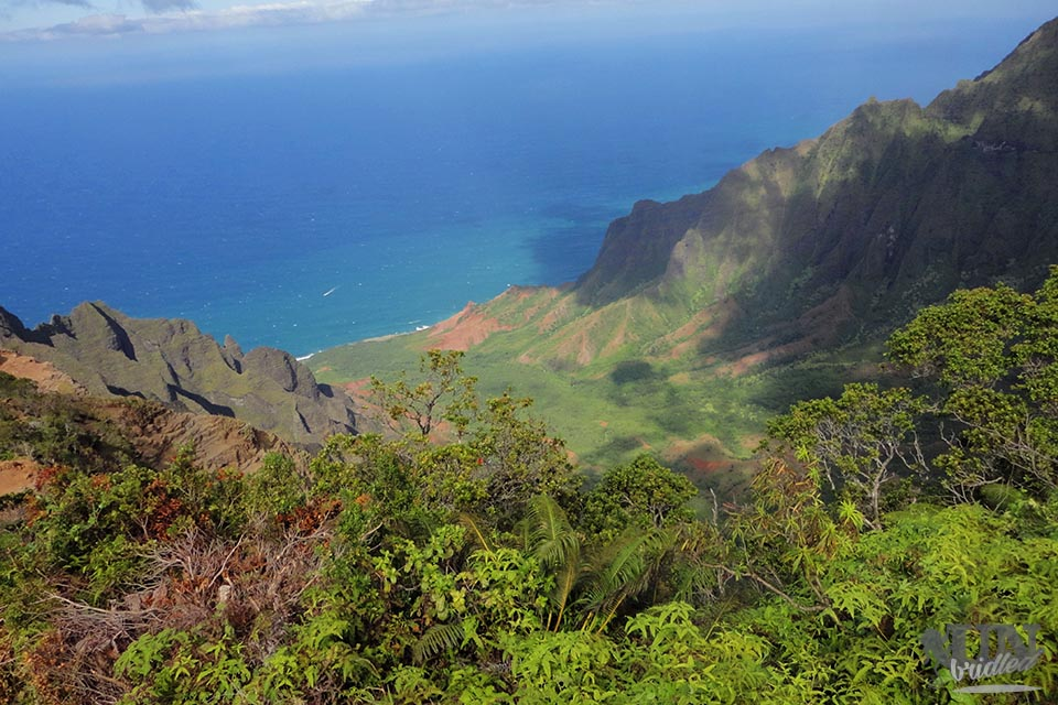 One of the activities on Kauai is to see the Kalalau Valley from above.