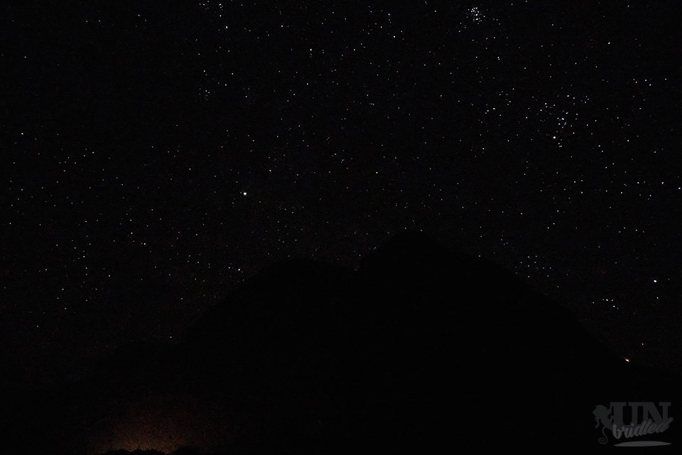 Night sky on Kauai at Polehale Beach