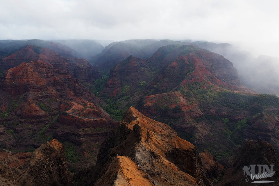 Roter Waimea Canyon auf Kauai