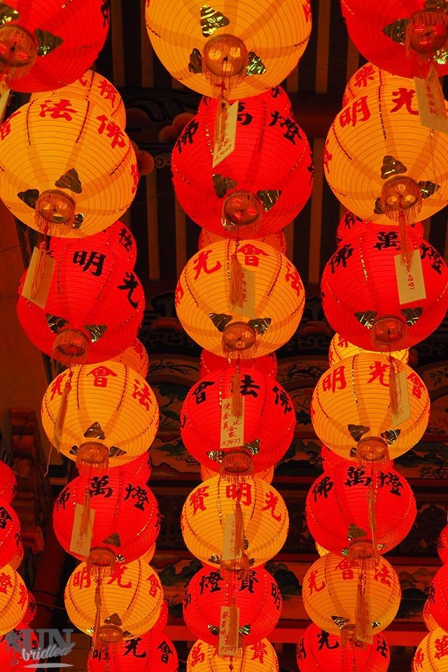 Gelbe und Rote Laternen zum Chinesischen Neujahr in Penang