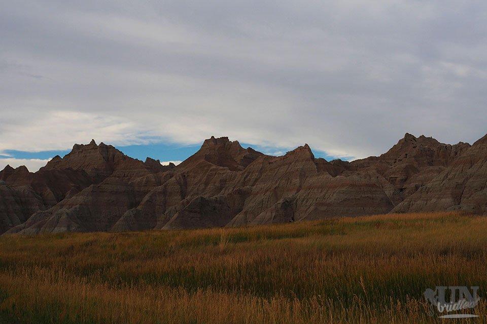 Blick auf die Felsen des Badlands Nationalparks