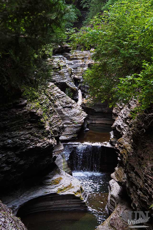 Fluss im Watkins Glen State Park
