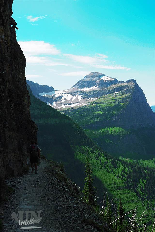 Wanderweg in den Bergen des Glacier Nationalparks