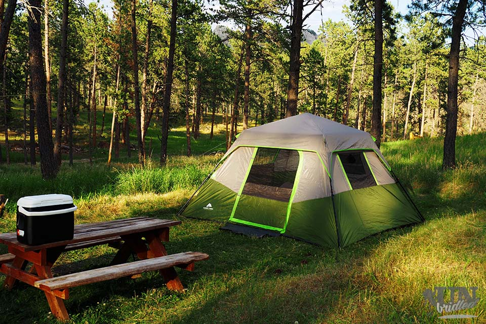 Camping in the U.S. outside of Custer State Park