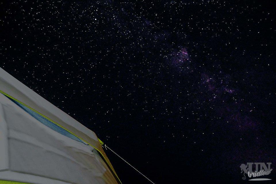 Sternenhimmel außerhalb des Yellowstone - Zelten in den USA