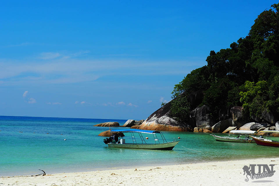 The beach in front of of the Flora Bay Resort & Dive Shop, Malaysia