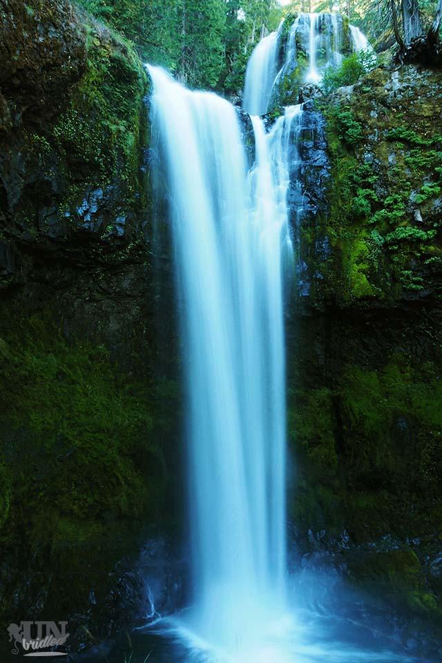 Stunning Falls Creek Falls at Gifford Pinchot National Forest, USA