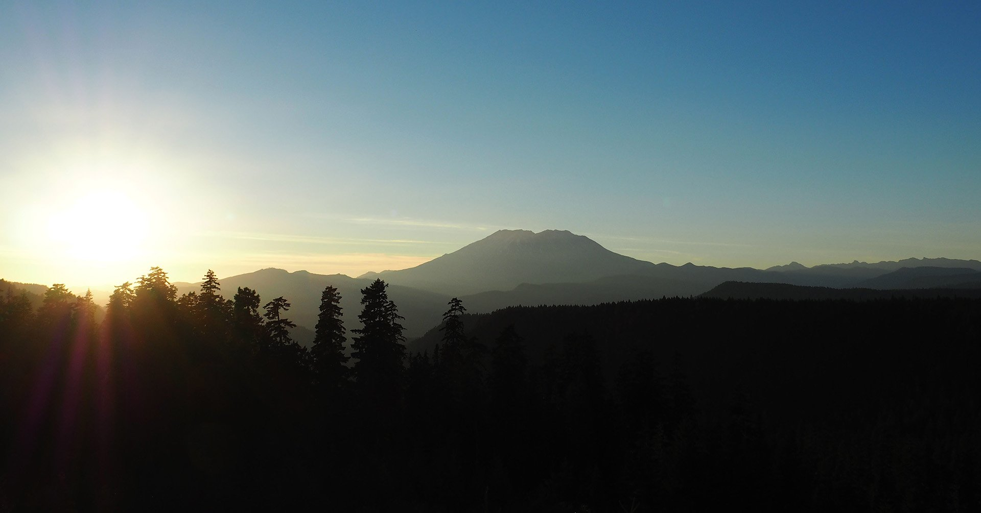 View of the Mount Helens from Gifford Pinchot National Forest, USA