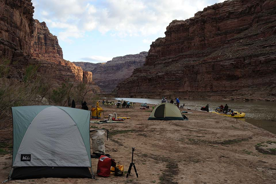 One of the campsites in the U.S. at Canyonlands while rafting tour