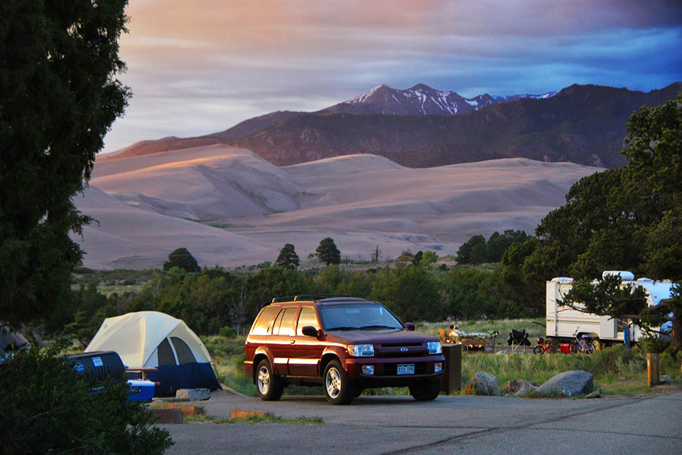 One of the most scenic campsites in the U.S.: The Pinon Flats Campground, Colorado