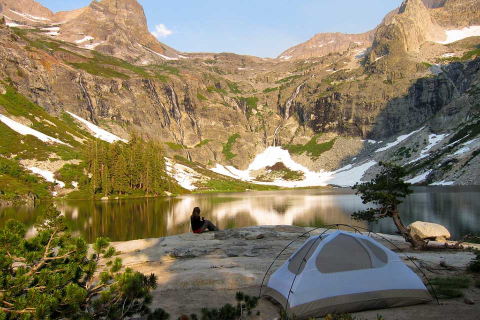 One of the most scenic campsites in the U.S.: Amazing and peaceful campsite at Hamilton Lake