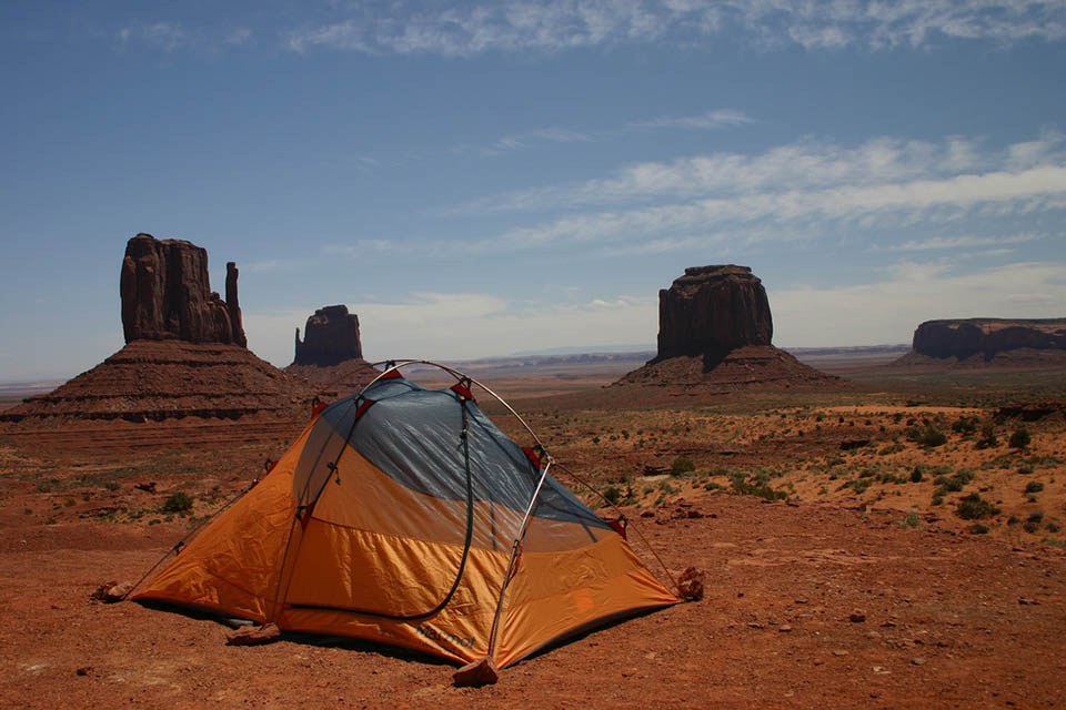 View of the Monument Valley from one of the most scenic campsites in the U.S.