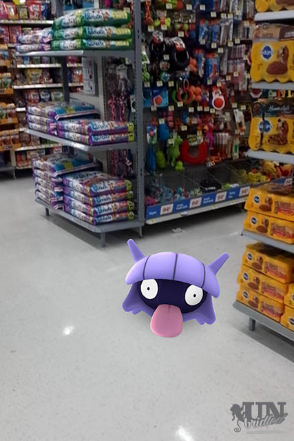 Playing Pokémon Go at Walmart can also be distracting!