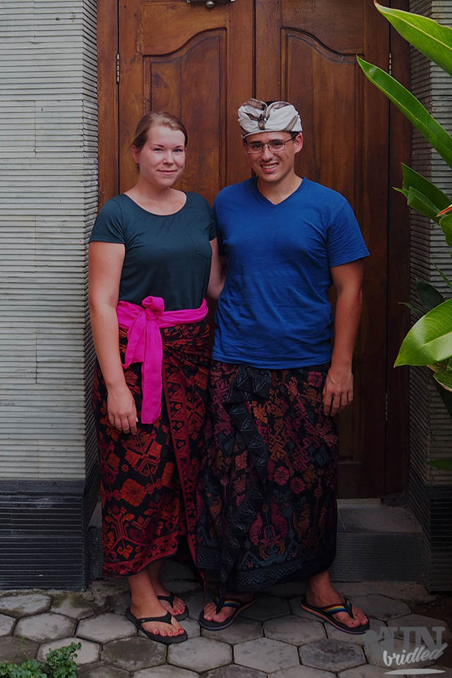 James and me after a Balinese ceremony
