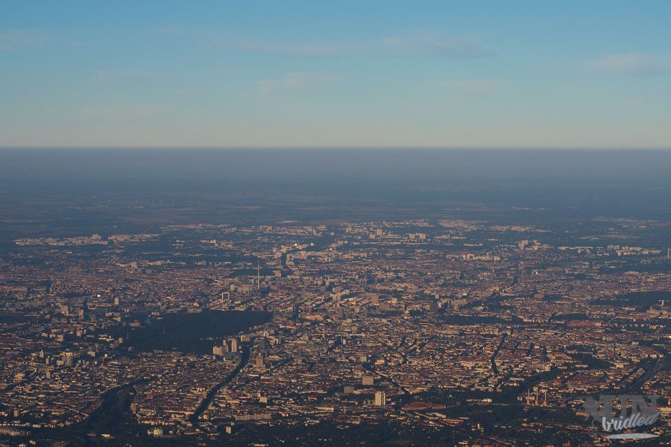 Berlin from the airplane as the start of my first year as a digital nomad