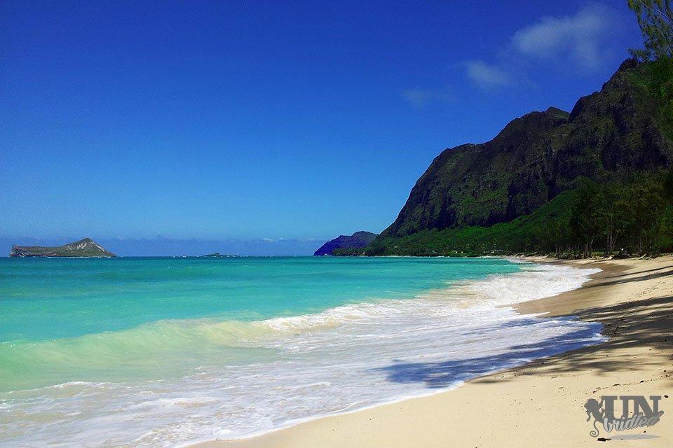 Tropischer Strand in Hawaii, an dem ich gerne während des Auslandssemesters entspannt habe