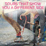 Photo of the Berlin Wall with the text: Berlin - Tours that show you a different side