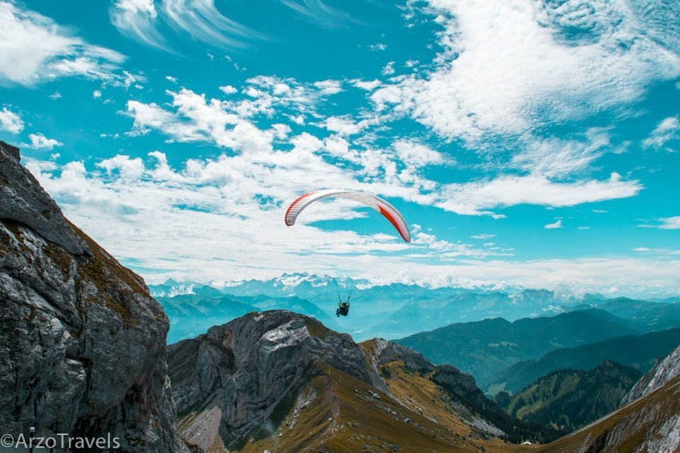 Paragliding in Switzerland as one adventure for 2018