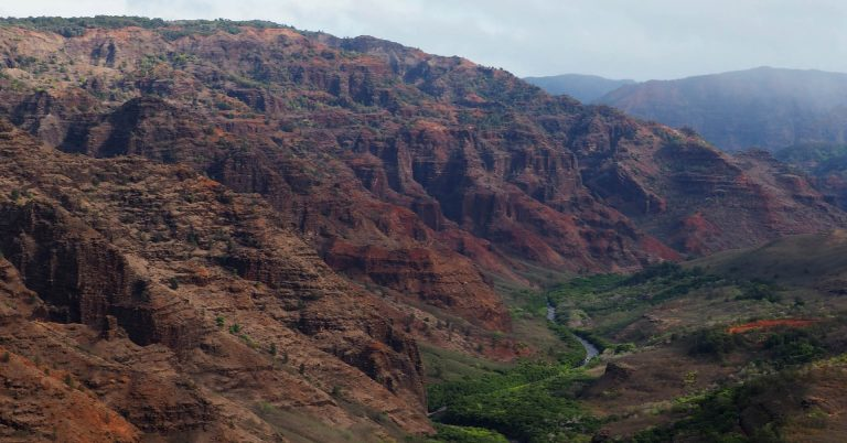 Red deep canyon on Kauai as one of the best adventure destinations