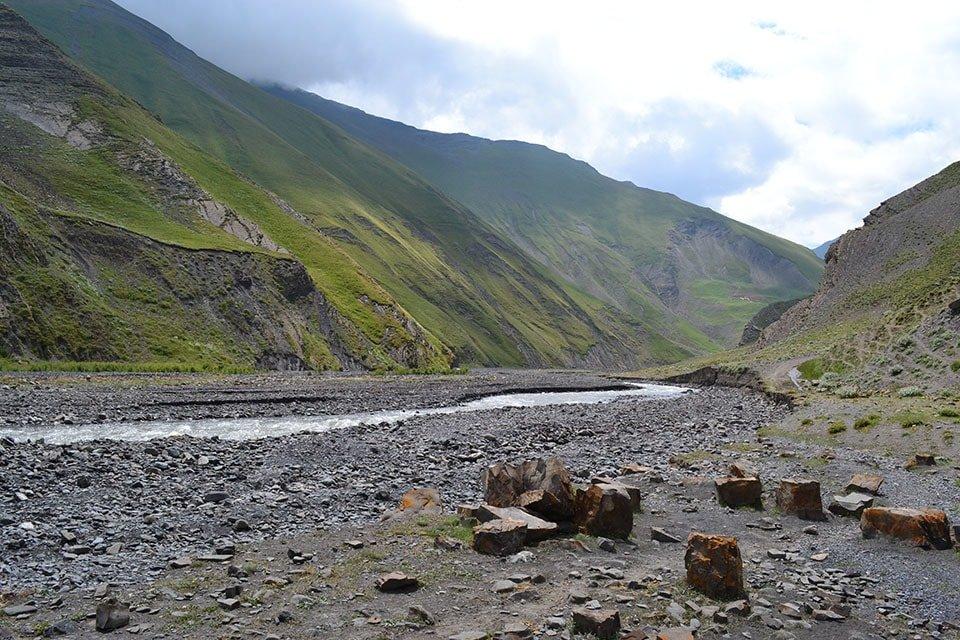 Idyllische Landschaft in Aserbaischan