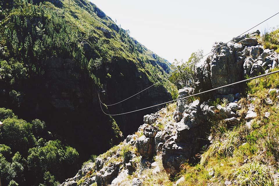 Ziplining auf der Cape Canopy Tour in Kapstadt, Südafrika