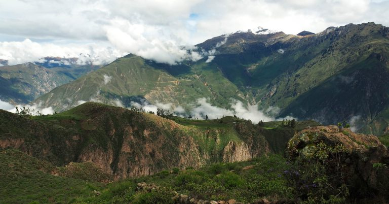 Canyon and mountain scenery from Peru