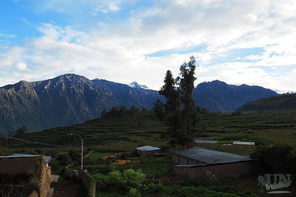 View of the Colca Canyon from Casa de Santiago in Cabanaconde