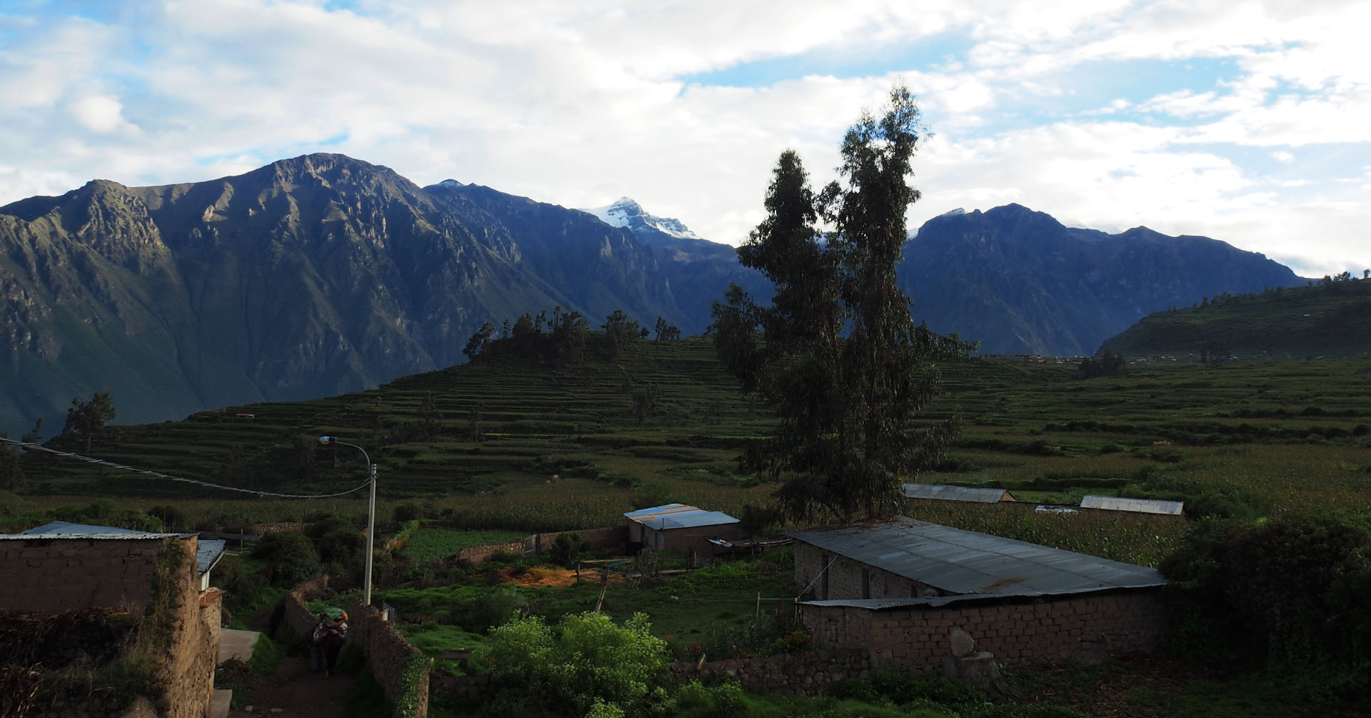 View from accommodation in Cabanaconde (Colca Canyon) - Where to stay at Colca Canyon in Peru