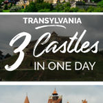 Photos of castles with the text: Transylvania - 3 Castles in one day