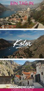 Bilder von Kotor und der Kotor-Bucht und der Text: Ein Tag in Kotor