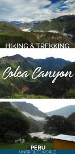 Photos from Colca Canyon in Peru and the text: Hiking & Trekking Colca Canyon