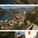 Photos of Kotor from the fortress hike and the old town with the text: Kotor in One Day