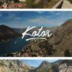 Photos of Kotor from the fortress hike and the old town with the text: One Day in Kotor