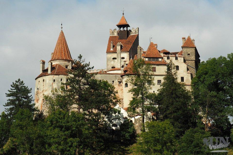 Medieval castle on a hill (Castle Bran)