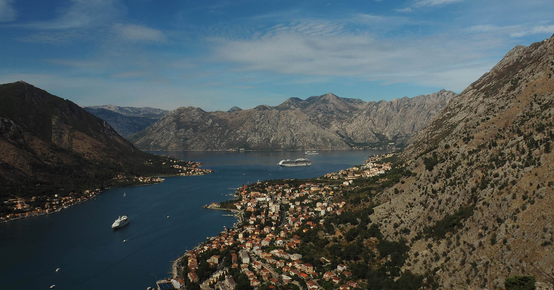 View of Bay of Kotor from the fortress in Kotor