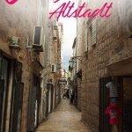 Mediterrane Innenstadt mit dem Text: 6 traumhafte Bilder von Budvas Altstadt