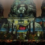 Berlin Dome in color with the text: Festival of Lights in Berlin