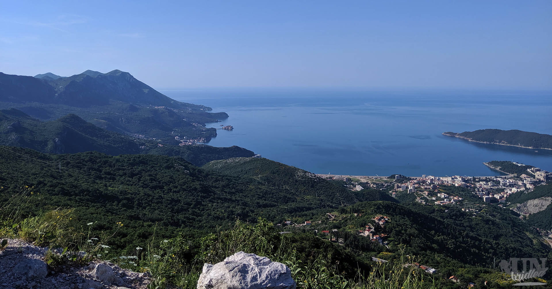Coast of Montenegro from a view point