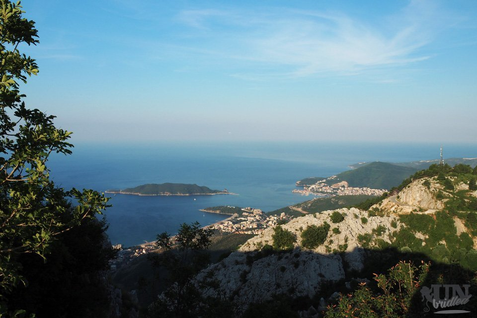 Coastal view from a hiking trail in the Budva Riviera (Montenegro)
