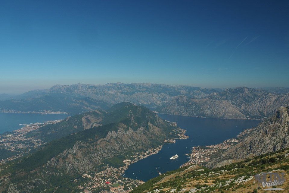 View of Kotor Bay from above