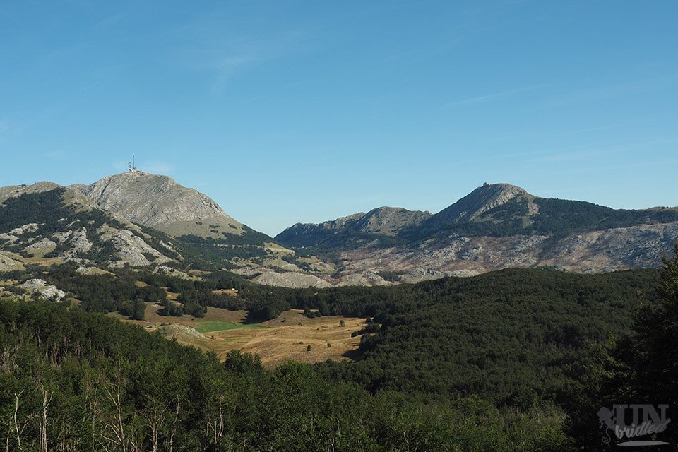 View of the two highest peaks at Lovcen National Park