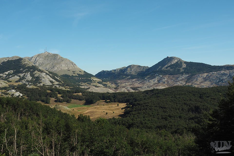 View of the highest peaks from a hiking trail at Lovcen National Park