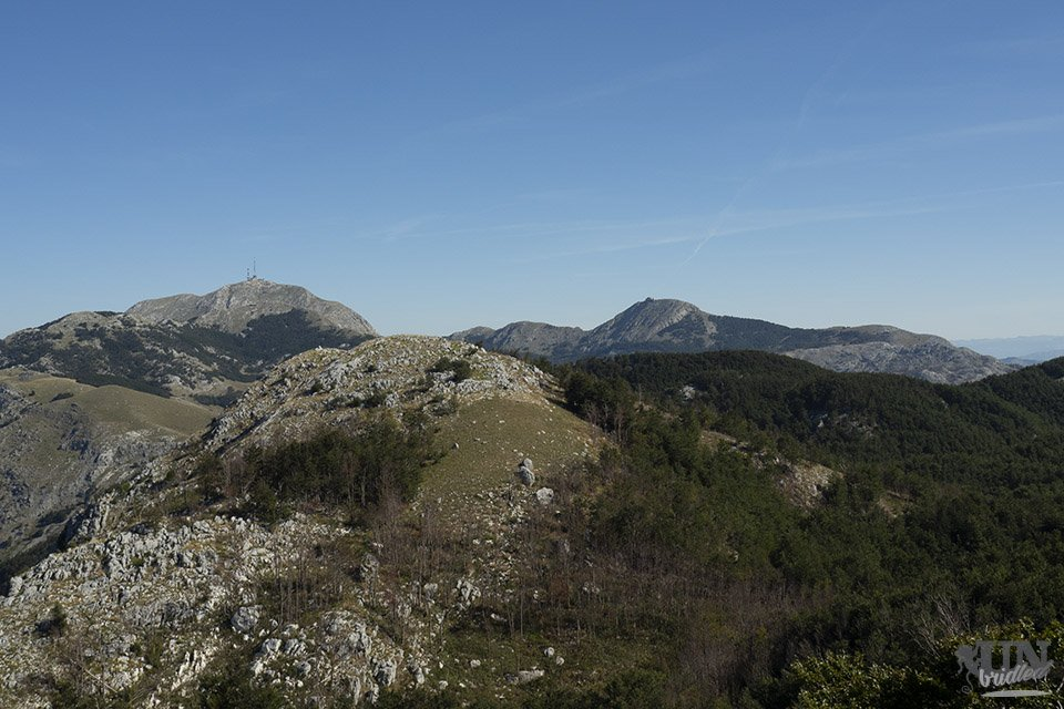 View of the highest peaks in Lovcen National Park from Babina Glava