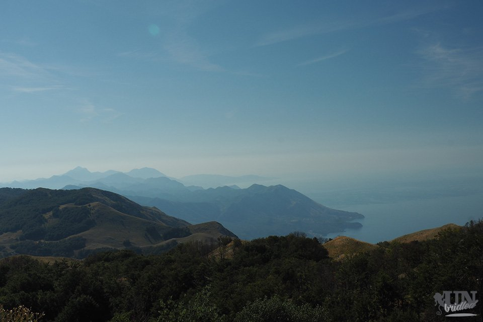 Mountainous coastal view in Montenegro, view from Babina Glava