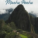 Machu Picchu with the text: Salkantay Trek - A hiking adventure to Machu Picchu